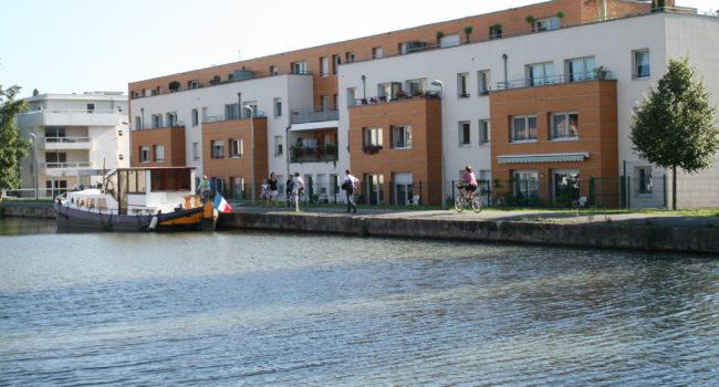Residence bien etre de Quietelle Nancy berges du canal de la Marne au Rhin